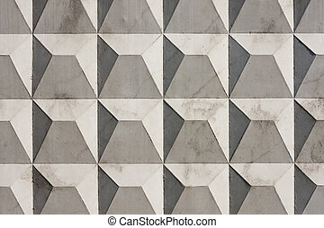 Textured concrete slab - Fragment of concrete slab with a...