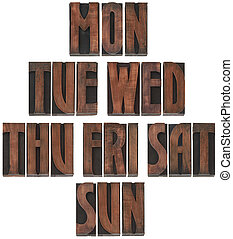 Days of the Week Cutout - The Days of the Week Wooden...