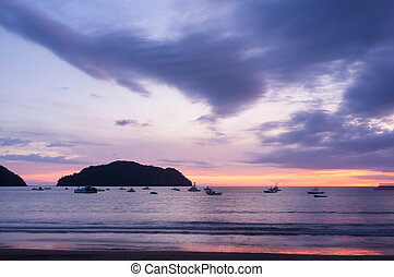 Playa Herradura on the Pacific coast of Costa Rica,...