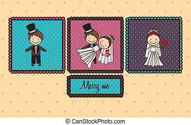 GR Diciembre 3 - Illustration of love marriage, with love...