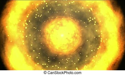 solar & fireball,galaxy and cluster explosion in space,power...