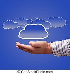 choice concept of cloud computing, place for text