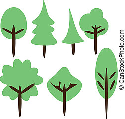 tree-001 - Tree Vector in Kids Styles for improve your...