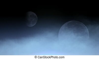 cloud cover moon,fairyland,celestial body