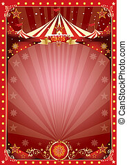 poster christmas circus - A circus poster on the christmas...