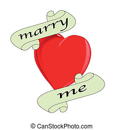 Marry Me - A tattoo style image of the 'Marry Me' logo.