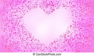 Heart Particles - Small heart particles join to form a heart...
