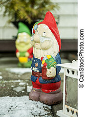 Red christmas gnome - Decorated gnomes on the eve of...