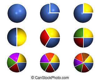 Pie Chart Collection - Collection of Pie Chart Graphics