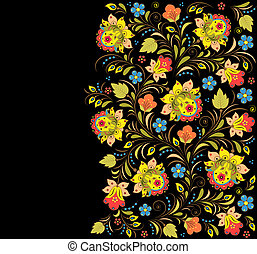 floral vector pattern - Vector illustration of colorful...