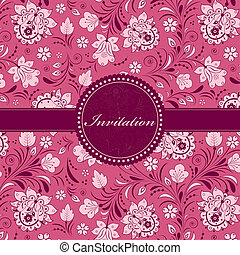 brigt floral invitation card