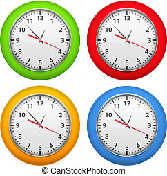 Color clocks - Set of color clocks, vector eps10...