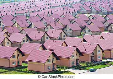 Townhouses - Village of townhouses. View from the height.