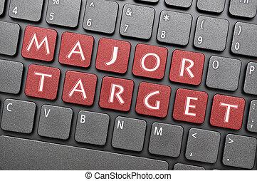 Major target on keyboard