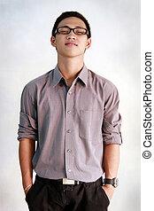 Filipino teenage man - A portrait of a young Filipino...
