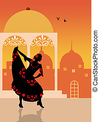 spanish girl - Spanish flamenco dancer