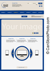 web site in a blue style