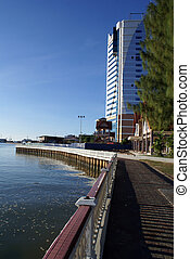 River - Modern building on the bank of rivewr in Kuala...