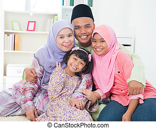 Asian family - Southeast Asian family quality time at home...