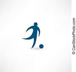 icône, footballeur
