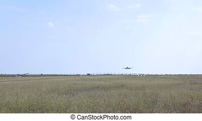 Landing of a small plane. HD1080 - 25p