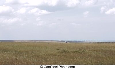 Plane on the runway HD1080 - 25p