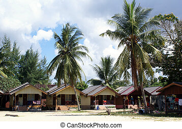 Guesthouse on the beach in Cherating, east Malaysia...