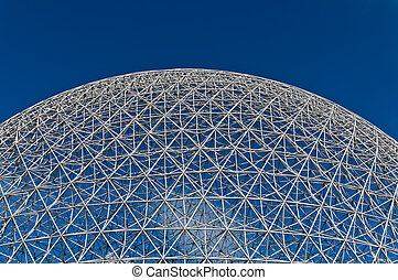 Dome of the montreal biosphere on a sunny day