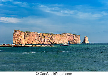 Perce Rock, famous place in Gaspe, Quebec, Canada