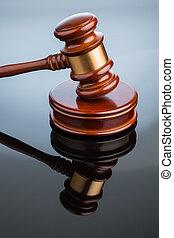 gavel gavel on white background symbolic photo for justice...