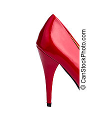 red high heels - red high heel on a white background....