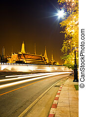 Grand palace at night in Bangkok