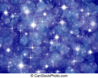 Dark blue background with boke effect and stars - Abstract...