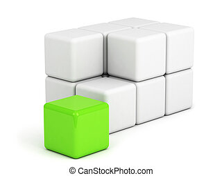 bright green box out of the crowd