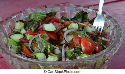 salad tomato cucumber mix