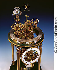 Antique clock with perpetual motion.
