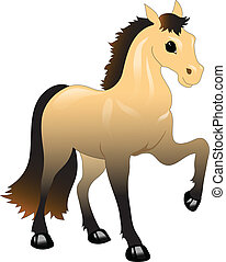 brown horse with a black mane - pretty brown horse with a...