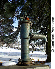 old water pump in garden