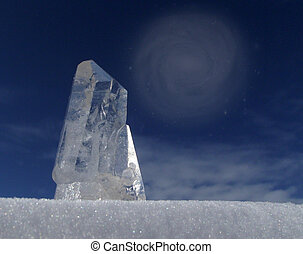 quartz crystal for design web page,background etc