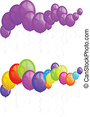 Balloons party happy birthday decoration multicolored...
