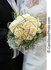 Wedding  bouquet - Photo of wedding bouquet with roses