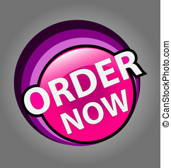 Order now label - 	Design of a vector order now label