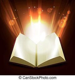 Holy And Magic Book - Illustration of an opened book...