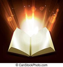santissimo, e, magia, livro
