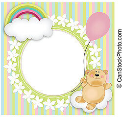 Layout for baby's teddy bear floati - Scalable vectorial...