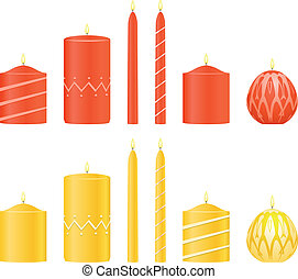 Vector set candles  - Vector set candles