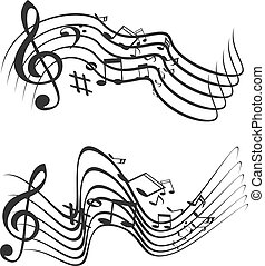 Music theme. Vector illustration.