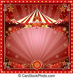 Christmas circus card - A circus christmas or Happy new...