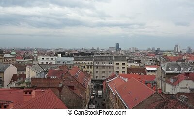 Panorama - Zagreb 001 - Panoramic view of Zagreb city,...