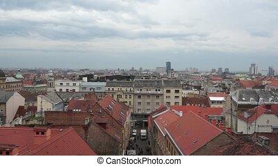 Panorama - Zagreb 001 - Panoramic view of Zagreb city,...